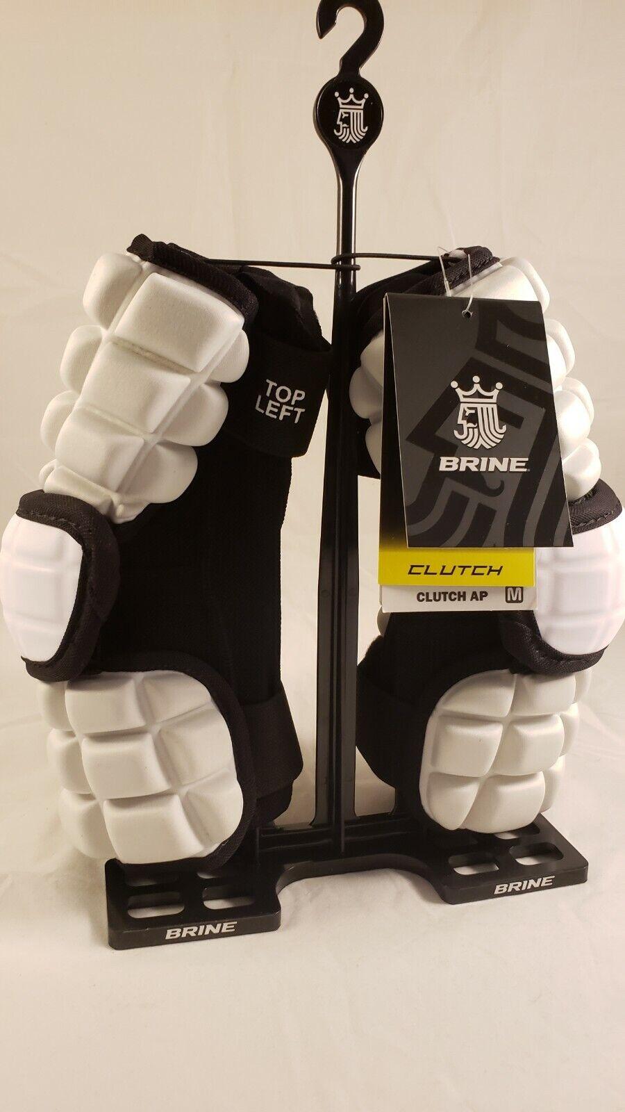Brine Clutch AP Lacrosse Midfield Arm Pads - Small (White)