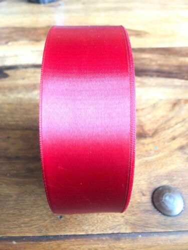 "Brand New 50m Red Satin Ribon 1.5"" 38mm"