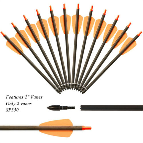 """24//50Pcs 7.5/"""" Carbon Arrows Crossbow Bolts Vanes Crossbow Archery Hunting Target"""