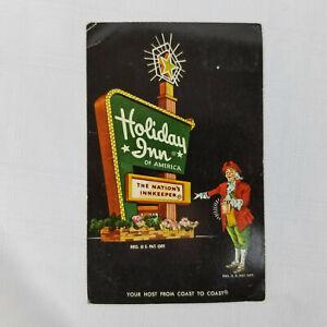 Vintage-1968-Postcard-Holiday-Inn-New-Jersey-Bordentown-Hotel-Motel-NJ