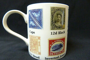 DIFFERENT-POSTAGE-STAMPS-OF-THE-WORLD-MUG-IN-A-BOX-PRINTED-CERAMIC-COLLECTABLE