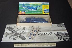 Grumman F4F Wildcat US Navy Carrier Fighter. Monogram 1st Issue 1960s Vintage.