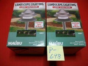 BRAND 2-NEW MALIBU LOW VOLTAGE LANDSCAPE LIGHTING FIXTURES MODEL LT406GRL NIB