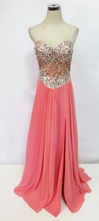 Glamour by TERANI Couture Coral Prom Gown 10 10 10 -  240 NWT f0d6e1
