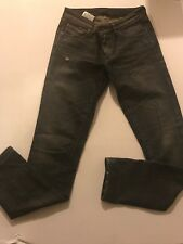 7f852200 DIESEL Black Gold Black Distressed Skinny Jeans Women's Size 26 Cowhide  Trim US2
