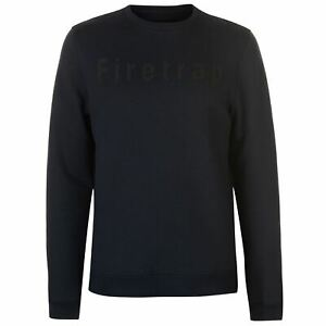 Firetrap-Mens-Graphic-Crew-Sweater-Jumper-Pullover-Long-Sleeve-Neck-Jersey