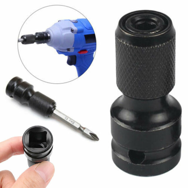 1//2 Square Female Drive To 1//4 Impact Wrench Socket Chuck Adapter Converter