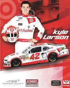 2017 Kyle Larson Target Chevy SS NASCAR MENCS postcard