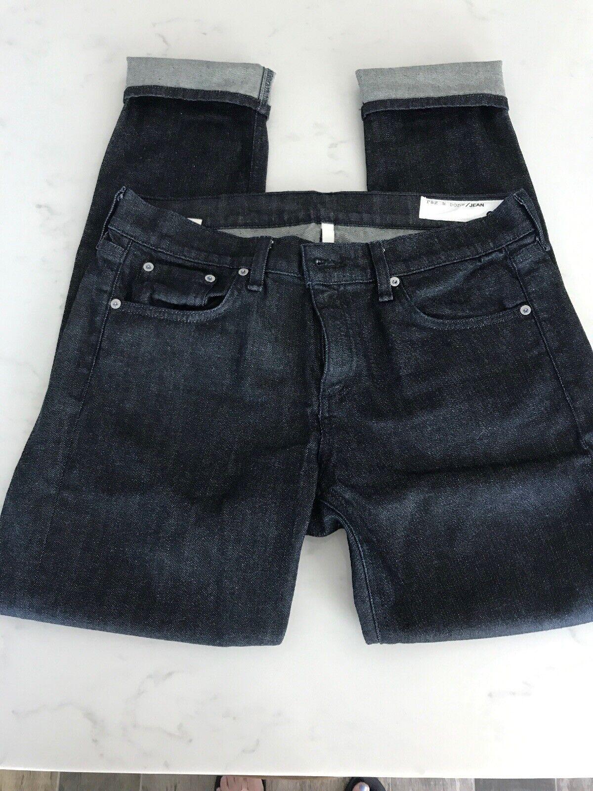 Rag & Bone Dre Indigo Slim Fit Pojkvänner Jeans, Storlek 29 NWOT