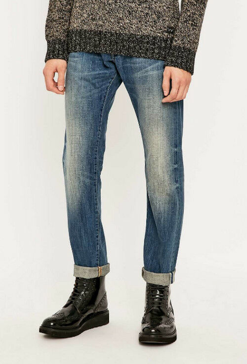 JEANS EDWIN  ED 80 SLIM TAPERED (white listed- mid slush)  W38  L34 VAL