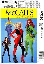 McCall's Sewing Pattern M7269 Women's 4-12 Costume Unitards Bodysuit Skirt 7269
