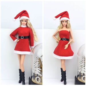 Handmade-Merry-Christmas-Outfit-For-Blythe-Doll-Dress-Hat-Clothes-For-1-6-doll