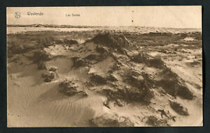 Posted-C1928-Sand-Dunes-near-Westende-Belgium