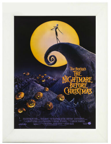 A3 A4 The Nightmare Before Christmas Poster Canvas Art Print Framed Option