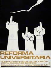 "Ad Propaganda Political Education Chile Reform University Framed Print 12x16/"""