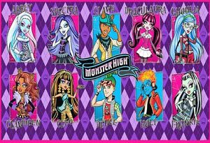 Brilliant Monster High School Friends Edible Birthday Cake Topper Frosting Funny Birthday Cards Online Alyptdamsfinfo