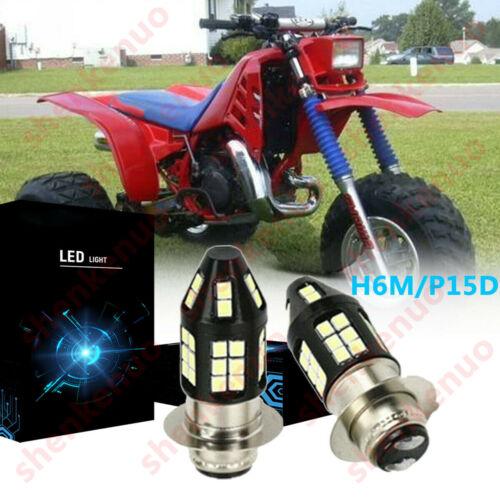 H6M P15D LED Headligh Bulb 6000K 100W For Honda ATC200ES Big Red 1984 ATC 200ES