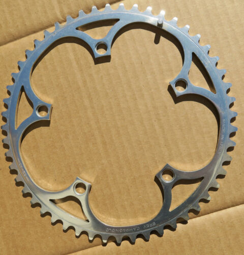 "5 hol 135 mm Bcd NOS Campagnolo Record /""AS/"" 52 teeths outer road bike chainring"