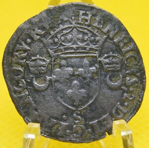 HENRY-II-12-Deniers-1551-S-0-292-SILVER-coin-25-0-mm