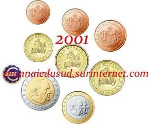 Serie-1-Cent-a-2-Euro-Monaco-2001-Serie-UNC