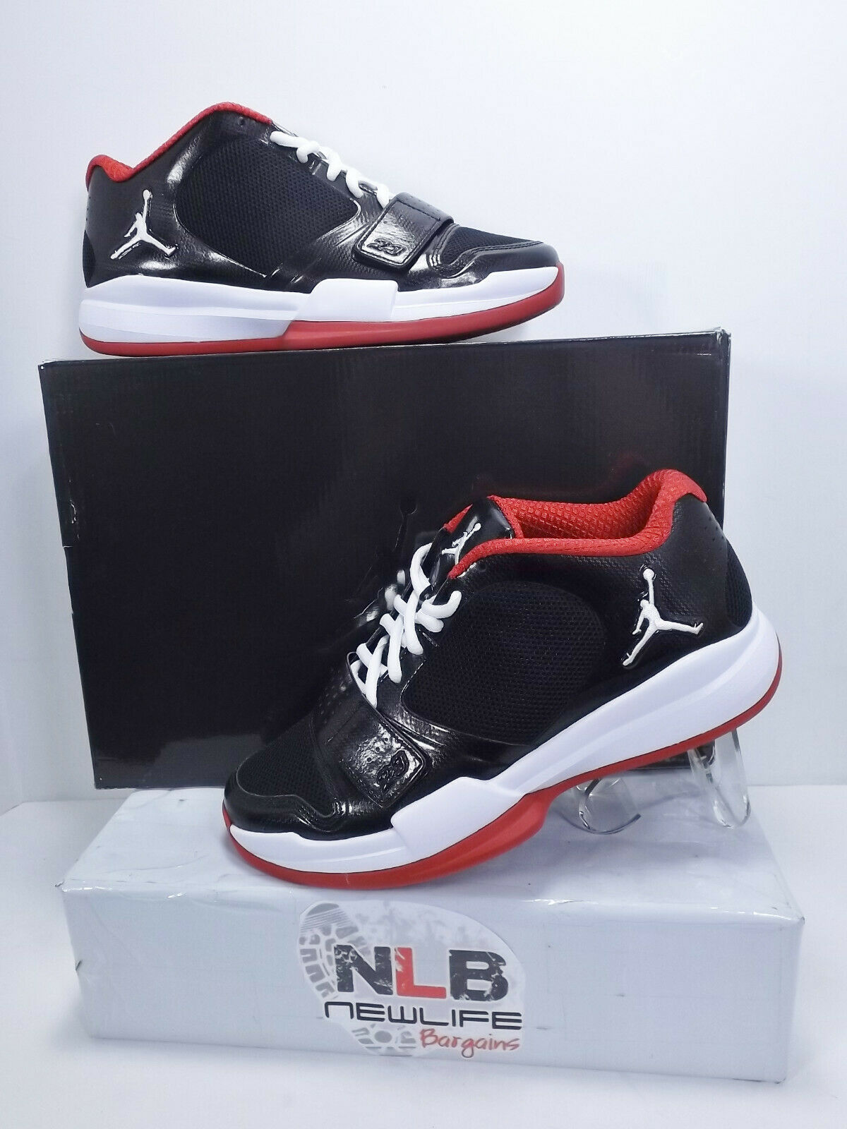 Nike Air Jordan BCT Low Black White Varsity Red 429505-010 Men Size 7