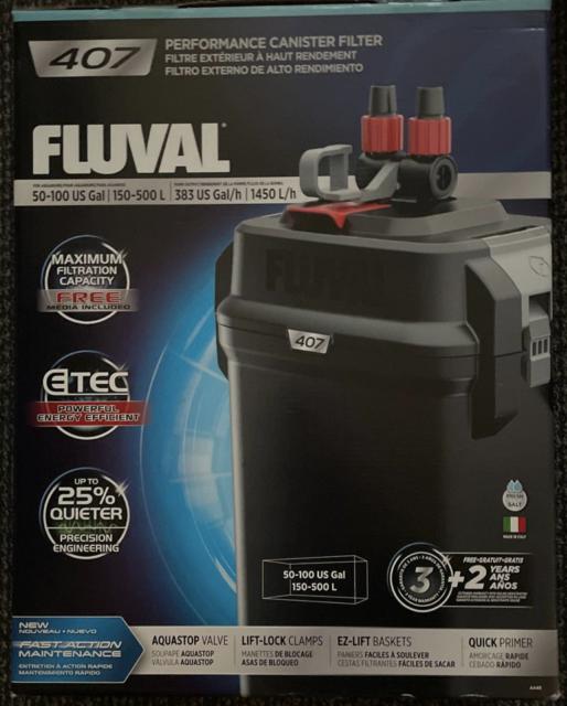 Fluval 407 Perfomance Canister Filter NEW