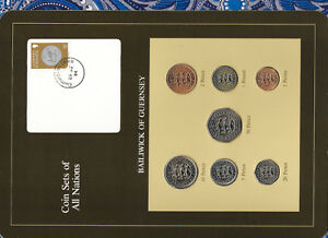 Coin-Sets-of-All-Nations-Guernsey-Brown-1979-1983-UNC-1-1981-50P-1983-25OC84