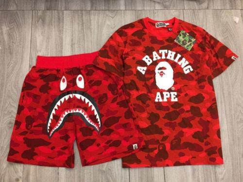 2019 Camo Outfits Bape Tracksuit Shark Face Shorts Ape Head TEE A Bathing Ape