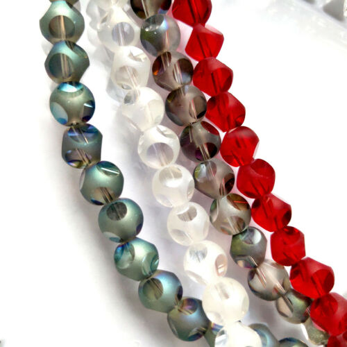 12mm 20pcs Faceted Crystal Glass Loose Spacer Beads DIY Jewelry Finding#Q