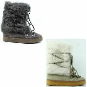 Frye Womens Gail Shearling Tall Snow Boots