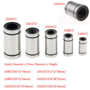 2-5Pz-Cuscinetto-Lineare-LM6UU-LM20UU-Linear-Bearing-per-3D-Stampante