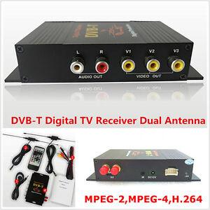 DVB-T-MPEG-4-cuatro-vias-Doble-Antena-de-TV-digital-movil-de-automovil-HD-sintonizador-de-caja-del