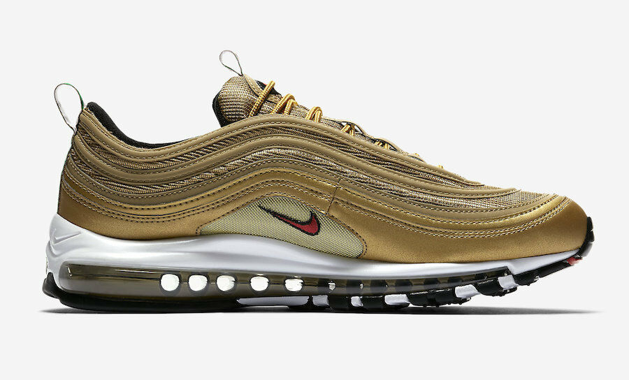 2018 nike air max 97 metallisches gold og größe retro - italien in größe og 10.aj8056-700 95 98 b0a256