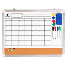 Whiteboard Monthly Wall Calendar Set 24 X 18 Inch Magnetic Dry Erasecork With