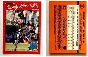 Sandy-Alomar-Jr-Signed-1990-Donruss-30-Card-San-Diego-Padres-Auto-Autograph