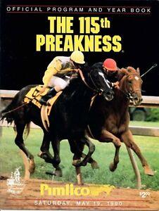 1990-PREAKNESS-STAKES-HORSE-RACING-PROGRAM-SUNDAY-SILENCE-EASY-GOER-UNBRIDLED