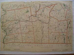 1891-Original-Map-Hampden-County-Towns-MA-Mass-Springfield-Palmer-Brimfield