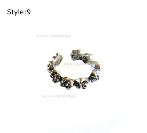 Toe Rings Antique Silver Adjustable Finger stack-able Band Retro 12 style