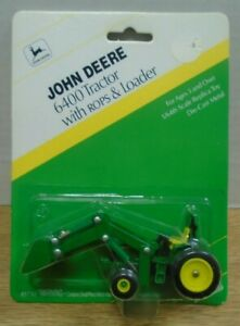 John-Deere-6400-Tractor-With-Rops-amp-Loader-ERTL-1-64-Diecast-071919DBT3