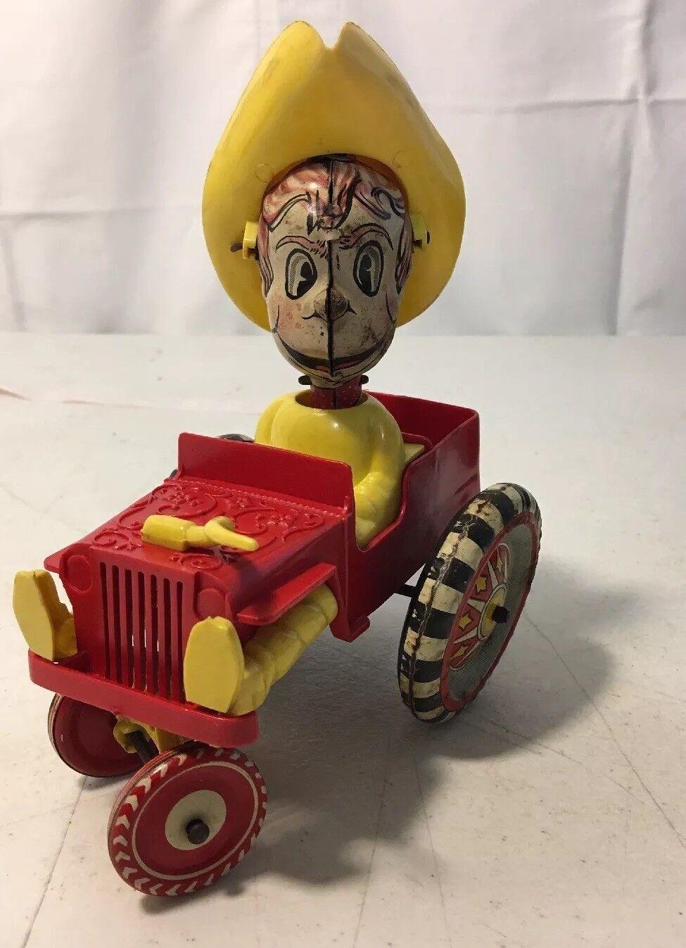 Compra calidad 100% autentica Vintage Marx Cuerda Estaño Juguete Howdy Howdy Howdy Doody Vaquero Jeep Original  online al mejor precio