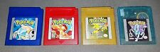 (4) Authentic Pokemon Red, Blue, Gold, Crystal all with New Batteries and Cases