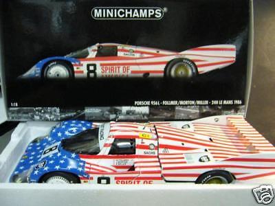 Porsche 956 L LE MANS 1986 spirit of America Joest Follmer  8 Minichamps r 1 18