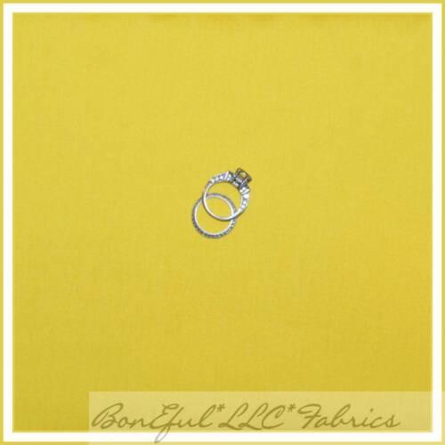 BonEful Fabric FQ Cotton Quilt Yellow Lemon Solid Fruit Bright Light Tone Baby S