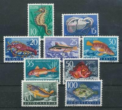Briefmarken Jugoslawien Nr.795-803 Gestempelt Fauna Tiere Der Adria äRger LöSchen Und Durst LöSchen Hell 285998