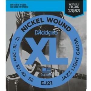 D'Addario XL Nickel Wound EJ21 Jazz Light Electric Guitar Strings
