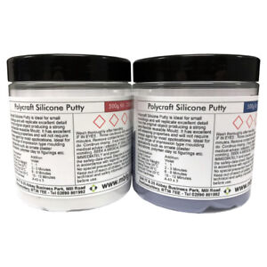 Details about Polycraft Silicone Putty RTV Moulding Making Rubber - 500g Kit