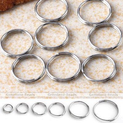 300X 5-12mm Silvery Stainless Steel Double Loop Jump Rings Split Open Jumprings