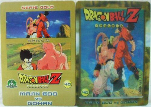 "Dragon Ball Z  /""Majin Boo Vs Gohan/"" Giochi Preziosi serie GOLD n° 40 lenticolare"