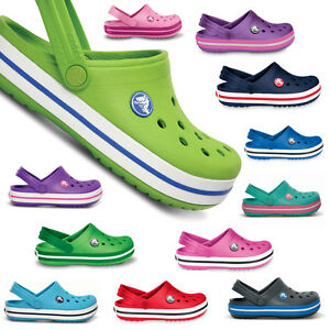 crocs kids crocband kinder clogs sandalen schuhe neu gr 21 35 ebay. Black Bedroom Furniture Sets. Home Design Ideas