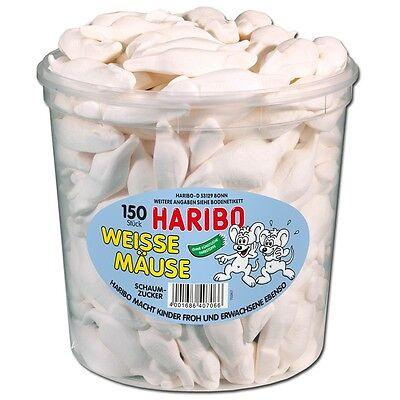 (5,09€/1kg) Haribo Weiße Mäuse, Schaumzucker, 150 Stück